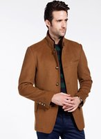 Wholesale Best Overcoats Men - Wholesale free shipping Winter Wool Coat Slim Fit Jackets Fashion Outerwear best quanity Warm Man Casual Jacket Overcoat Pea Coat Plus Size