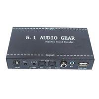 Wholesale Digital Dts - Freeshipping 5.1 Audio Devices Digital Decoder Converter Audio Gear DTS AC-3 to 5.1 Digital Audio Converter