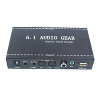 Freeshipping 5.1 Audio Devices Digital Decoder Convertidor Audio Gear DTS / AC-3 a 5.1 Digital Audio Converter