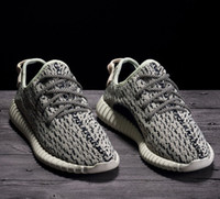 Фабричное качество 350 Boost Sneakers Turtle Dove AQ4832 Размер 4-13 Двойная коробка Kanye West Real Boost Wide Bottom Women Men Кроссовки