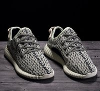 Wholesale Real Dive - Factory Quality 350 Boost Sneakers Turtle Dove AQ4832 Size 4-13 Double Box Kanye West Real Boost Wide Bottom Women Men Running Shoes
