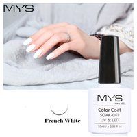 Wholesale french manicure nail polish set - Wholesale-MYS Black White French Manicure Set Gel Nail Polish 10ml Long Lasting Soak Off UV Gel French Nail Gel Varnish