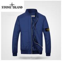 Wholesale Korean Jackets Men Sale - 2017 spring new island baseball shirt Korean version of casual men's jacket thin models hot sale Stone jackets blue black red