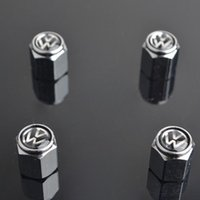 Wholesale vw passat cc wheels online - 2017 Hot Car Tire Tyre Wheel Valve Stems Caps For VW CC Touareg Tiguan Jetta Golf Passat
