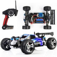 Wholesale Super Speed Rc - Wholesale- Hot! Wltoys A959 2.4G 4CH 4WD Shaft Drive RC Car High Speed Stunt Racing Car Remote Control Super Power Off-Road Vehicle Car