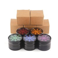 Wholesale Grinder Hand Muller - New Style Aluminium Alloy 63mm 4 Layers Lighting Herbal Herb Tobacco e cigarette Smoke Crusher Grinder Hand Muller