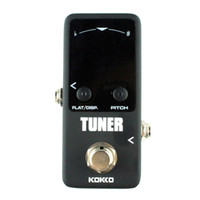 Wholesale Guitar Tuners Picks - Flanger FTN2 Mini Pedal Tuner LED Screen Guitar Effect Pedals guitar accessories Contain 2 picks