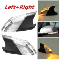 Wholesale Vw Indicator Lights - Left+Right Side Wing Car Styling Rearview Mirror Turn Signal Light Indicator Led Lamps Bar Lighting For 05-09 for VW Polo mk4 FL