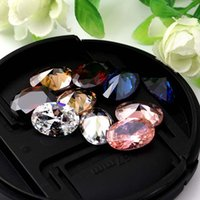 Wholesale Rhinestones Pointback - 10pcs lot 10x14mm OVAL Cut AAA Loose Colorful Zircon Pointback Rhinestones Artificial Gemstone Decoration Super Flash