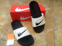 Wholesale Mens Beach Shoes White - New arrive Cakes selling classical mens benassi jdi Men Women Outdoor beach slippers Mirror slippers Golden Silver Indoor shoes Size 36-45