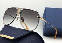 Wholesale Gradient Aviator Glasses - Men gold grey shaded Aviator Sunglasses LIMITED EDITION Fashion designer Brand Sunglasses Glasses unisex New with original case