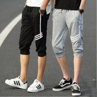Wholesale Crop Pants For Men - New Brand Trousers Men's Cropped Pants Casual Joggers Summer Calf-Length Pant Drawstring Harem Pants For Boy KSD