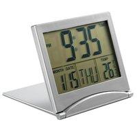 Wholesale Alarm Clock Temp - Wholesale-Digital LCD Large Screen Timer Desk Snooze Calendar Alarm Temp Foldable Clock Free Shipping