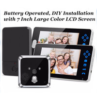 """Wholesale Hd Peephole Camera - TL-E701A 2 7"""" Inch HD Color Display Electronic Viewer Cat Eye Doorbell Camera Peephole Video Recording Smart Door AT"""