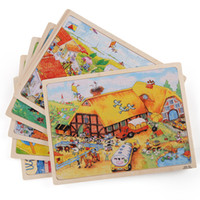 Wholesale Tong Mu wooden large number pieces of A set of pieces jigsaw puzzle years old baby early learned intelligence stereo toys