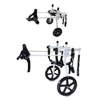 Wholesale Aluminum Wheelchairs - XS S M XL Size Dog Wheelchair Aluminum Light Weight Doggie Cart Kart