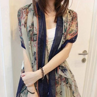 Wholesale Wholesale For Infinity Scarf - Wholesale-Hot selling retro style flowers winter infinity scarf for women,female lovely brand designer brand scarf,HCA-SK047