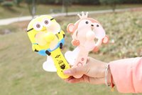 Wholesale Cartoon Plastic Fan - Summer Children Fans Portable Handheld Fan Cartoon Mini Manual Fans Kids Gifts children toys Free DHL