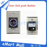 Wholesale Touch Door Release - Wholesale-Whole sale Infrared Sensor Switch No Touch Contactless Door Release Exit Button with LED Indication