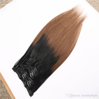 Wholesale Cheapest Indian Remy Hair Extensions - 16-26 Inch Thick Full Head Piano Remy Clip In Hair Extensions For Short Hair Unprocessed Wholesale Cheapest Hot Selling Straight Hair
