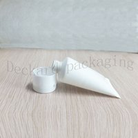 Wholesale Plastic Tubes For Cosmetics Packaging - 100pcs white flip lid Soft Tube For Cosmetics Packaging,Sample 30ML Lotion Cream Plastic Bottles,Unguent Containers Tube squeeze