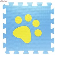Wholesale Soft Puzzle Floor Mat - Wholesale- 2016 New Soft EVA Foam Lovely Pattern Puzzle Mat Pad Floor Crawling Rugs Baby Toy Games