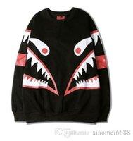 Wholesale Kpop Pullover - Shark Hoodie aape Cheap-male-clothing Hiphop Sweatshirt 2016 New Fashion Skateboard Lovers Couples Sweatshirt Mens Trasher Kpop