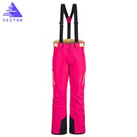 Waterproof sports brand snowboards - VECTOR Brand Professional Ice Ski Pants Women Waterproof Snow Winter Warm Snowboard Outdoor Sports Skiing Pants