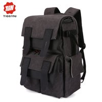 "Wholesale Backpack Camera Bags For Men - Wholesale- Tigernu Canvas women vintage waterproof girls backpack Camera Bag Digital SLR laptop bag 15.6"" for men school backpack"