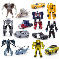 Wholesale robots movie toys for sale - New Arrival Mini Classic Transformation Plastic Robot Cars Action Figure Toys Children Educational Puzzle Toy Gifts