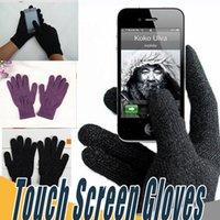 Wholesale capacitive screen gloves - Finger Touch Screen Gloves Warm Winter Multi Purpose Unisex Capacitive Full Christmas Gift For iPhone X 8 Plus iPad Smart Phone
