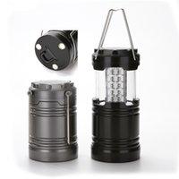 batería de litio de emergencia al por mayor-Gancho LED luces de camping fuerte linterna magnética de emergencia al aire libre linterna plegable Batería de litio incorporada para senderismo supervivencia