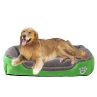 ingrosso letti di lusso di animazione-Candy Color Pet nido quadrato Kennel Warm Sofa MiniAutumn e Winter Doghouse Luxury Doghole Animali domestici Cat Beds Cashmere Like Soft 70ca H R