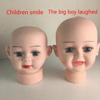 ingrosso manichino capelli uomo-Modello oggetti di scena speciali bambini testa muoiono modello testa primi bambini muoiono cappello testa