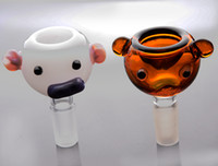 Wholesale Pig Bowl - HI-Q Bong Bowl Male Corlorful Pig Glass Bowls for Dry Herb Bucket Glass Free Shipping