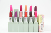 Wholesale Different Coloured Lipsticks - New Makeup Matte Lipstick ROUGE LIP COLOUR Makeup 12 different colors!! Free Shipping