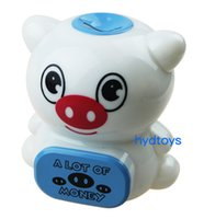 Wholesale Children S Banks Gifts - Christmas Gift Cartoon Piggy Bank Plastic Piggy Bank Plastic Coin Box Creative Gift Cute Piggy Bank Lovey Gift for Children With Music