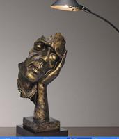 ingrosso scultura statua d'arte-14 pollici Face Sculpture Statue Abstract Modern Art Deco spedizione gratuita