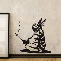 Wholesale Native American Indians - Native American Wall Decal Vinyl Stickers Indian Iroquois Decorative Wall Stickers Home Decor Living Room Removable Art Mural