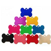 Wholesale Cheap Cat Pendant - Cheap 9 Color 4 Size Bone Shape Pet Dog Cat Tag ID Cute Safety Pet Pendant Dog Accessory Fit Pet Collar 100PCS LOT
