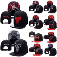 Wholesale Top Quality Snapback Hat - Top Quality wholesale New Brand Hip Hop Bulls Gorras Snapback Fashion Adjustable Basketball Baseball Cap Hat Bones Chicago Free Shipping