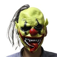 Vente en gros-2016 Halloween Horreur masques vert adulte Toothy Clown Costume Party Scary Masque Cosplay Prop décoration Fancy Dress NOUVEAU