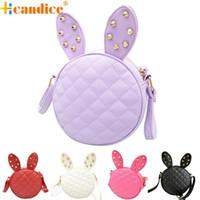 Wholesale Wholesale Ladies Handbag - Wholesale-Best Gift Hcandice New Fashion Women Girl Rabbit Ear Round Leather Handbag Shoulder Messenger Bag bea6610