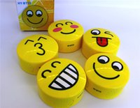 Wholesale Smile Speakers - HY-BT25 Lovely Cartoon Expression Style Mini Wireless smiling face Bluetooth Speakers Portable Bluetooth Stereo Speaker With TF USB FM