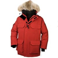 Wholesale Mens Chiffon - 2017 hot sale Men's down jacket Coat Fur Expedition parka Winter thick cotton padded jacket cotton mens jacket white collar cap Nagymaros