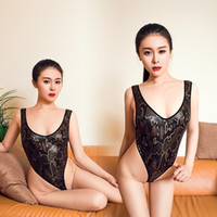 Wholesale Underwear Game - Patent leather Halter Japanese models Swimsuit Snake pattern Game installed Sexy temptation tight ladies underwear dress
