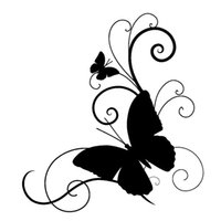 Wholesale personalized butterfly stickers - Butterfly Personality Car Styling Vinyl Stickers Creative Classic motorcycle Decals