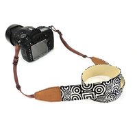 Vintage Soft Cotton Universal ajustável Camera Camcorder Shoulder Neck Strap Belt com adaptador de arnês DSLR Camera black