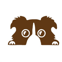 Comercio al por mayor 10 unids / lote Lindo y Suave Pet Animal Border Shepherd Dog Head Feature Etiqueta Engomada Del Coche para Motorhome RV Truck Motocicletas Vinyl Decal