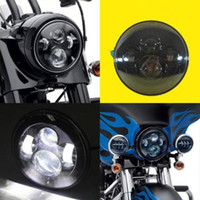 "Wholesale Tri Glides - 7"" Round Harley Daymaker LED Projection Headlight for Harley Davidson Motorcycles Fat Boy FLSTF Lo FLSTFB Touring Trike Softail Tri Glide"